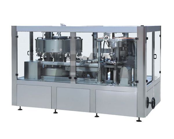 Cans containing gas (beer) beverage filling machine